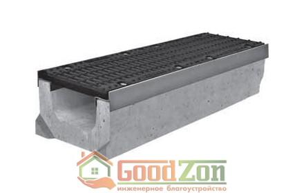 Лоток бетонный водоотводной 230 мм с чугунной решеткой